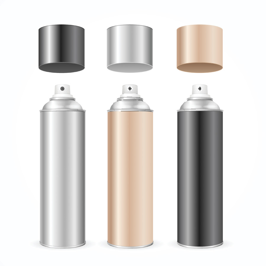 Save money on expensive products metallic aerosol hairspray cans