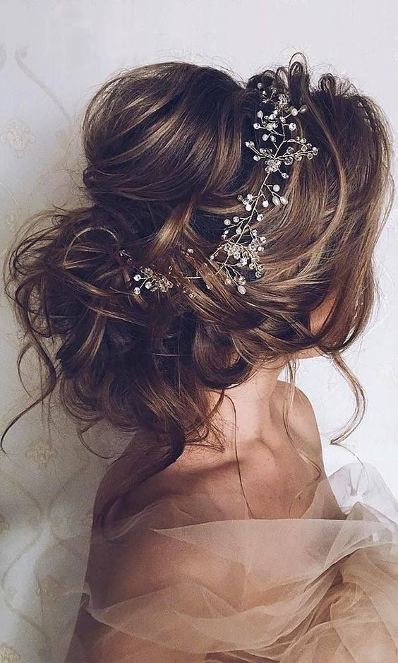 wedding hair messy updo bridal hair