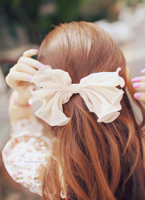 bow hair accessory pinterest ribbon hair cute pinterest hair redhead red hair color