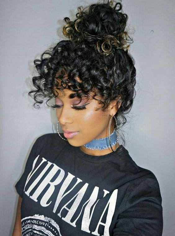 Curly Hair Bangs From Pinterest That Are Way Cool