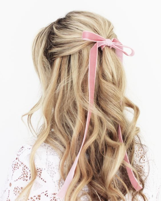 velvet ribbon blonde hair bow hair pinterest cute pinterest hair