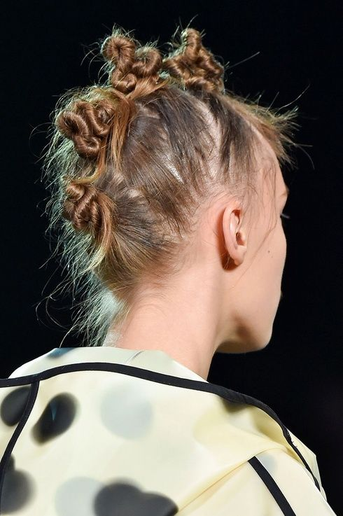 updo inspiration from Pinterest updo hairstyles mohawk buns