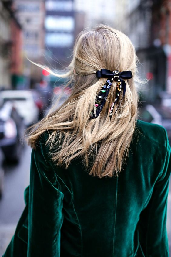 Cute Holiday Hair Accessories Jeweled Bow