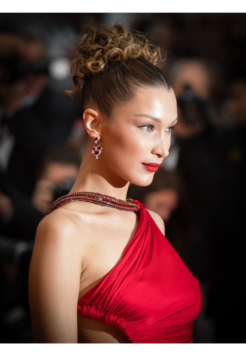 Bella Hadid Fall Hair