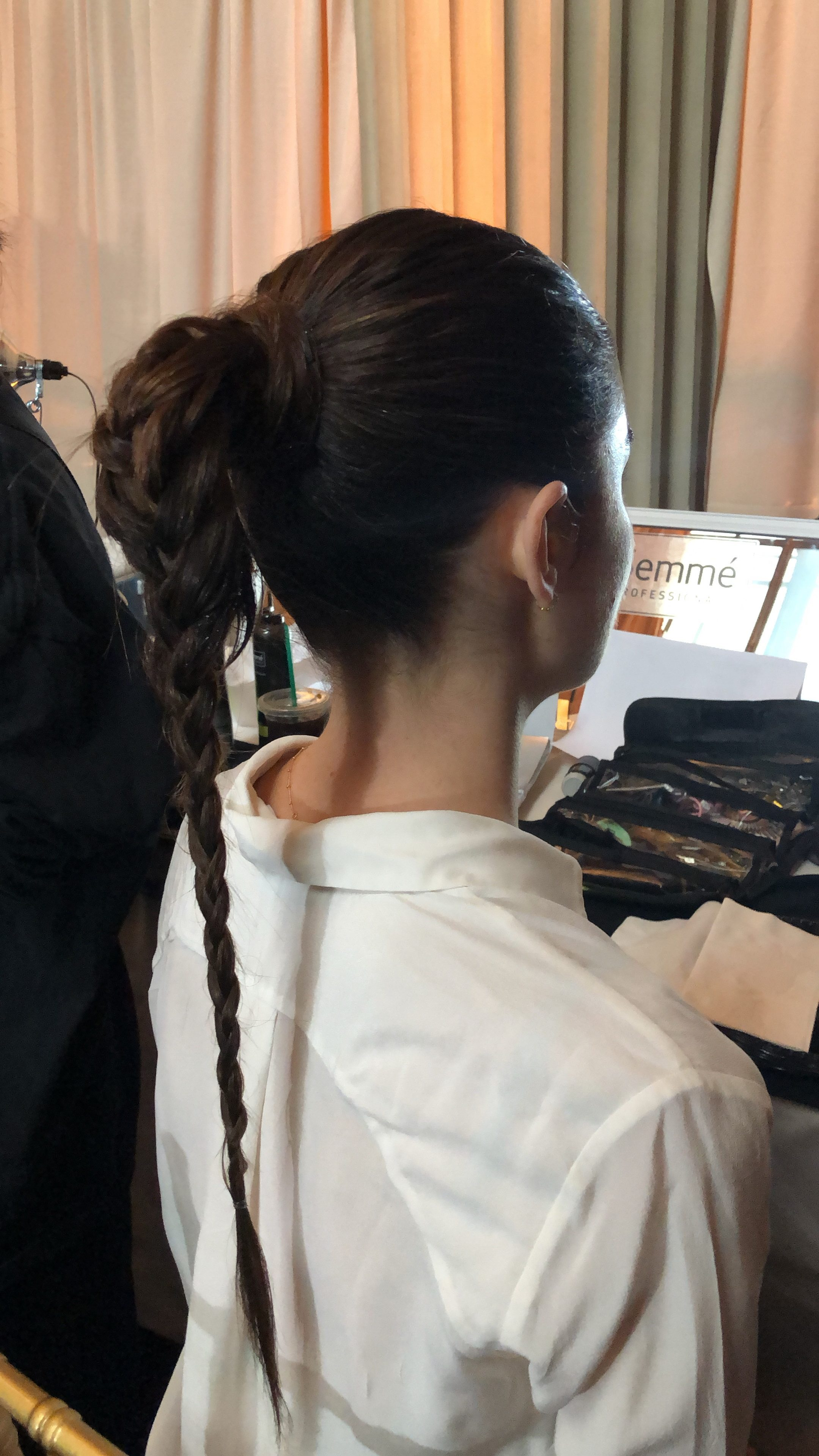 gigi hadid braid christian siriano