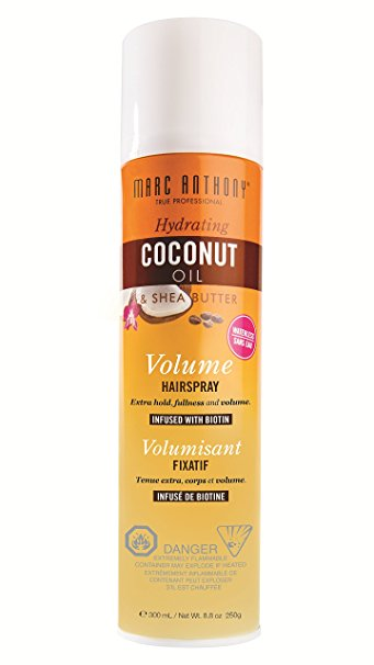 Marc Anthony Hydrating Coconut Oil & Shea Butter Volume Hairspray   Mane Addicts