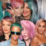 celebs with pastel hair bold hair pink