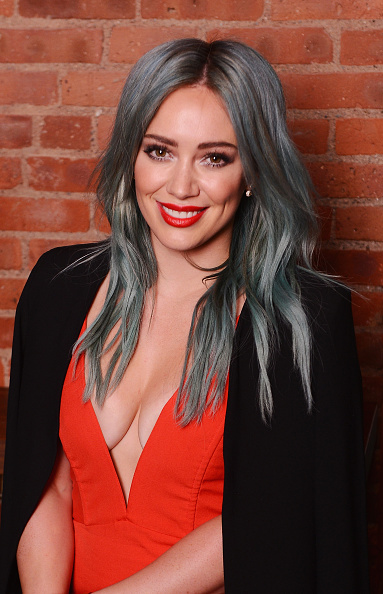 Hilary Duff Blue Hair