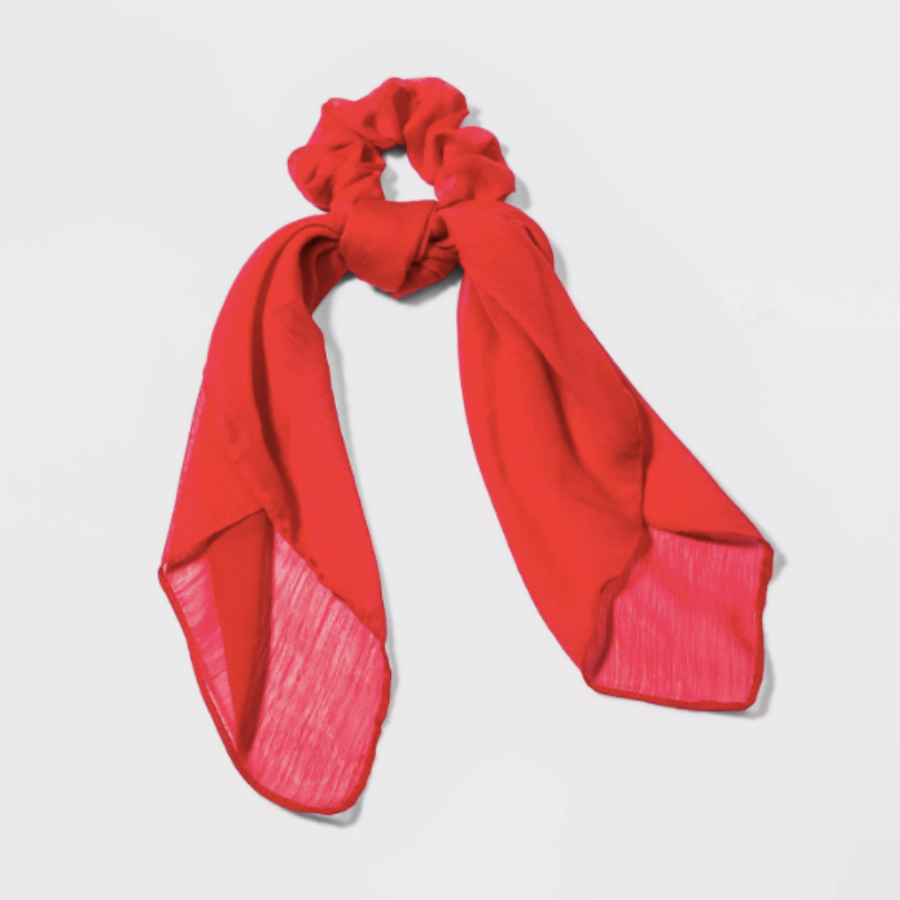Wild Fable Chiffon Twister With Hair Elastic Scarf in red from Target