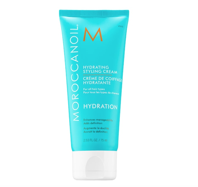 Moroccanoil Hydrating Styling Cream is one of our go-tos for moisture