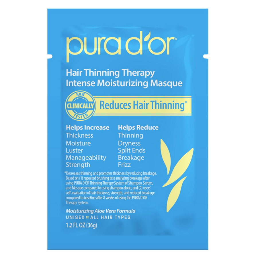 Pura d'or Single Use Hair Thinning Therapy Intense Moisturizing Masque