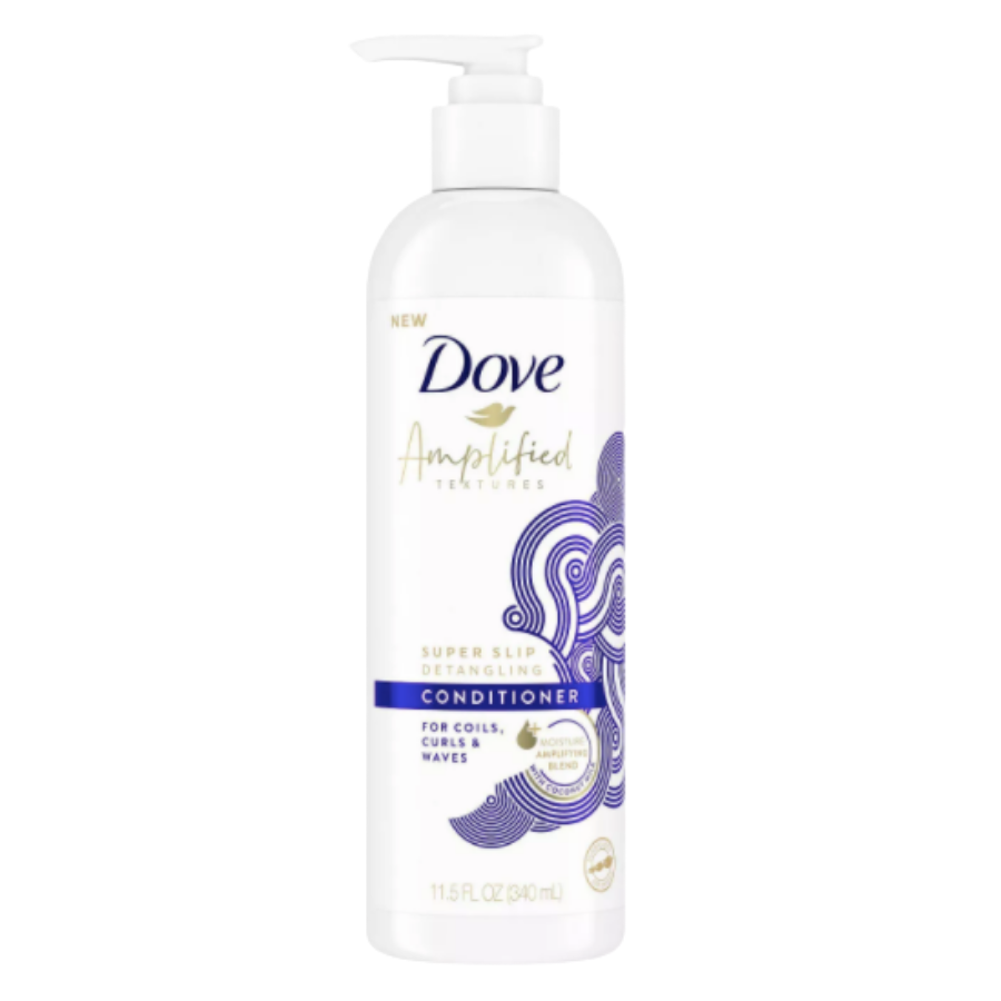 Dove Amplified Textures Super Slip Detangling Conditioner: