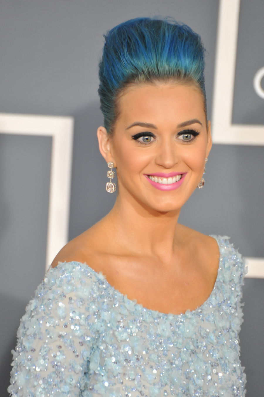 Singer Katy Perry arrives at the 54th Annual GRAMMY Awards held at the Staples Center. (Photo by Frank Trapper/Corbis via Getty Images)