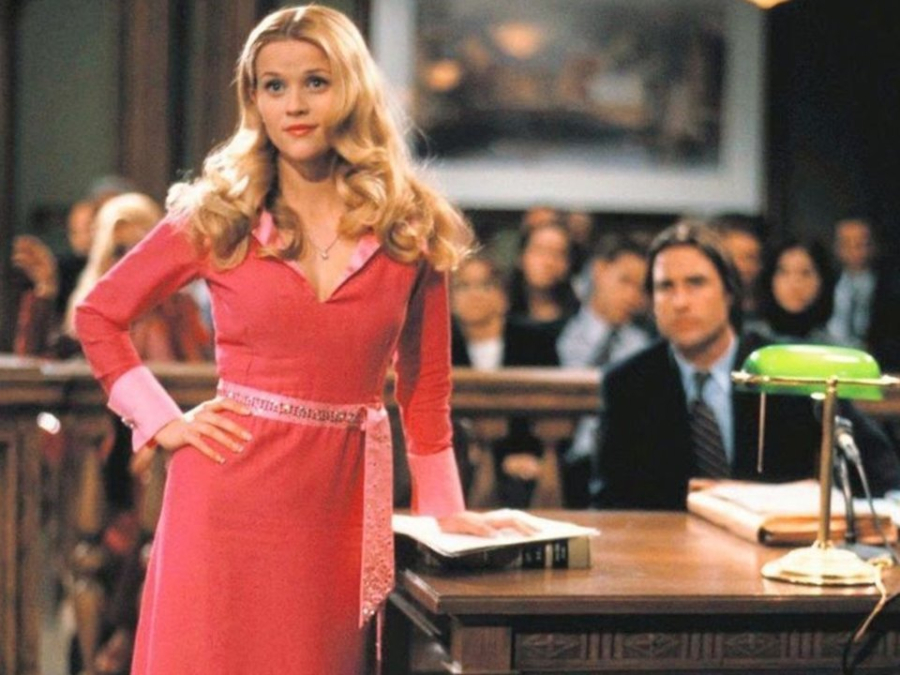 Elle Woods lawyer hair in Legally Blonde